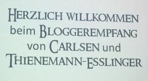 Bloggerempfang, Leipziger Buchmesse, Carlsen Verlag, Thienemann Esslinger Verlag
