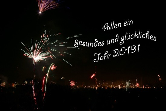 Neujahr, Happy New Year 2019
